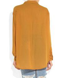 Acne Studios   Orange Shining Crepe Shirt   Lyst