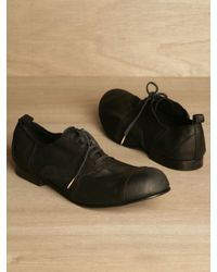 Comme des Garçons | Black Comme Des Garcons Homme Plus Mens Patchwork Lace-up Shoes for Men | Lyst