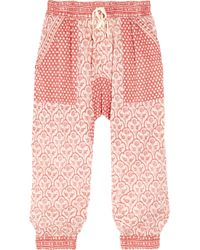 Étoile Isabel Marant | Red Hair Printed Cotton-Voile Harem Pants | Lyst