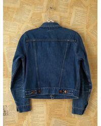 Free People - Blue Vintage Wrangler Jean Jacket - Lyst