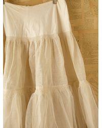 Free People | White Vintage Tulle Skirt | Lyst