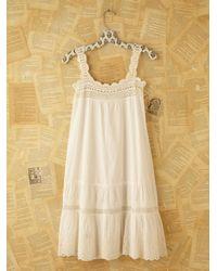 Free People | White Vintage Victorian Slip Dress | Lyst
