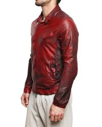 Giorgio Brato | Red Vegetable Washed Nappa Biker Leather Jac for Men | Lyst