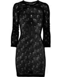 Isabel Marant | Black Manon Laddered Open-knit Mini Dress | Lyst