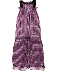 Isabel Marant | Purple Berheens Lurex and Silk-crepe Dress | Lyst