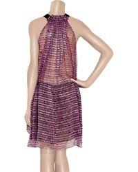 Isabel Marant | Purple Berheens Lurex and Silk-crepe Dress | Lyst