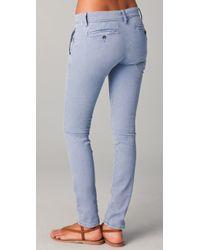 James Perse - Blue Slim Leg Drawstring Jeans - Lyst