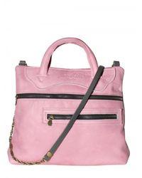 Jas MB - Pink Zip Up Super Soft Leather Shoulder Bag - Lyst