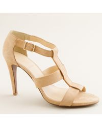 J.Crew | Natural Olympia Suede Heels | Lyst