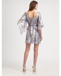 Kay Unger - Purple Silk Kimono Dress - Lyst