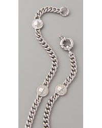 Marc By Marc Jacobs   Metallic Turnlock Lock Link Necklace   Lyst