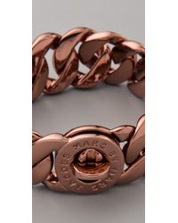 Marc By Marc Jacobs - Brown Turnlock Katie Bracelet - Lyst