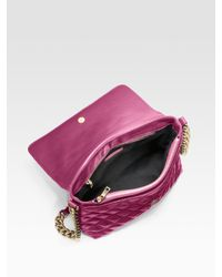 Marc Jacobs | Purple Quilting The Large Single Leather Bag | Lyst