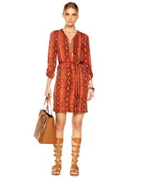 Michael Kors | Multicolor Exclusive Chain Tie Dress | Lyst