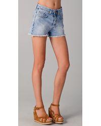 M.i.h Jeans | Blue Halsy Cutoff Shorts | Lyst