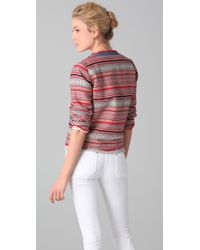 M.i.h Jeans | Multicolor Cropped Woven Cotton Jacket | Lyst