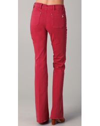 M.i.h Jeans | Red Marrakesh Kick Flare Jeans | Lyst