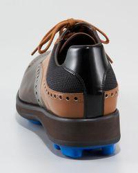 Prada - Brown Runway Kiltie Golf Shoe - Lyst