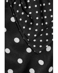Sonia by Sonia Rykiel - Black Polka-dot Cotton and Silk-blend Top - Lyst