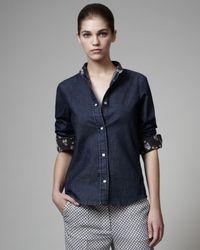 Stella McCartney   Blue Denim Shirt   Lyst