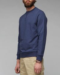 Sunspel - Blue Sweat Top for Men - Lyst