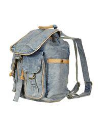 TOPSHOP - Blue Acid Wash Backpack - Lyst