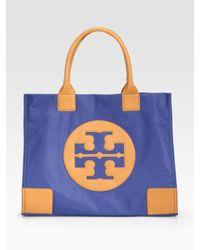 Tory Burch | Orange Ella Nylon & Leather Tote Bag | Lyst