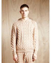 Unused | Natural Mens Wool And Alpaca Blend Hooded Sweatshirt for Men | Lyst
