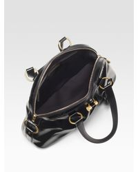 Saint Laurent | Black Patent Leather Muse Bag | Lyst