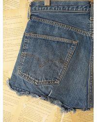 Free People - Blue Vintage 1970s Denim Shorts - Lyst