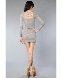 Free People - Gray The Good Girl Gone Bad Bodycon Dress - Lyst