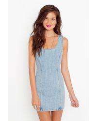 Nasty Gal - Blue Raha Denim Dress - Lyst