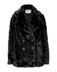 Juicy Couture | Black Teddy Short Coat | Lyst