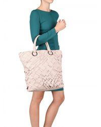 Diverso Italiano - Pink Handwoven Leather Linda Tote - Lyst