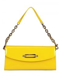 Jimmy Choo | Yellow Nini Patent Leather Clutch | Lyst