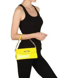 Jimmy Choo - Yellow Nini Patent Leather Clutch - Lyst
