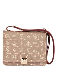 Lancel | Brown Dali Dol Canvas Leather Shoulder Bag | Lyst