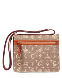 Lancel   Brown Dali Dol Canvas Leather Shoulder Bag   Lyst