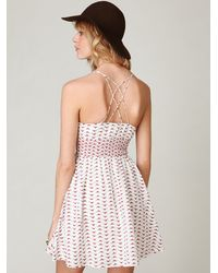 Free People | Natural Chick Printed Fit N Flare Dress | Lyst