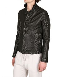 Giorgio Brato | Black Washed Nappa Biker Leather Jacket for Men | Lyst