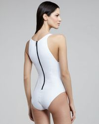 Lisa Marie Fernandez   White Garance Back-zip One-piece Swimsuit   Lyst