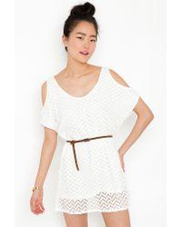 Nasty Gal - White Femme Fatale Dress - Lyst
