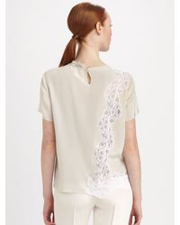 Stella McCartney - Natural Marquis Diamond Silk Lace Top - Lyst