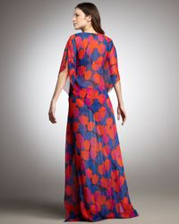 Tory Burch | Blue Long Caftan Coverup | Lyst
