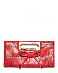 Viktor & Rolf | Red Printed Alligator Clutch | Lyst