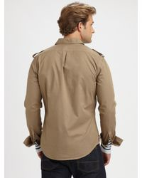 Vince - Natural Cotton Military Shirt for Men - Lyst