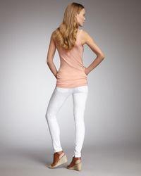 Vince | White Calgary Zipper-cuff Skinny Jeans | Lyst