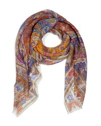 Etro | Mandarin Multicolor Printed Cashmere Scarf | Lyst