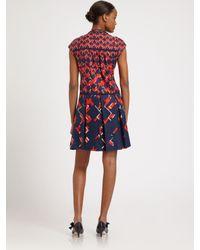 Tory Burch - Blue Truman Silk Dress - Lyst