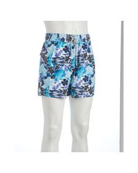 Vilebrequin | Light Blue Floral Turtle Print Moorea Swim Trunks for Men | Lyst